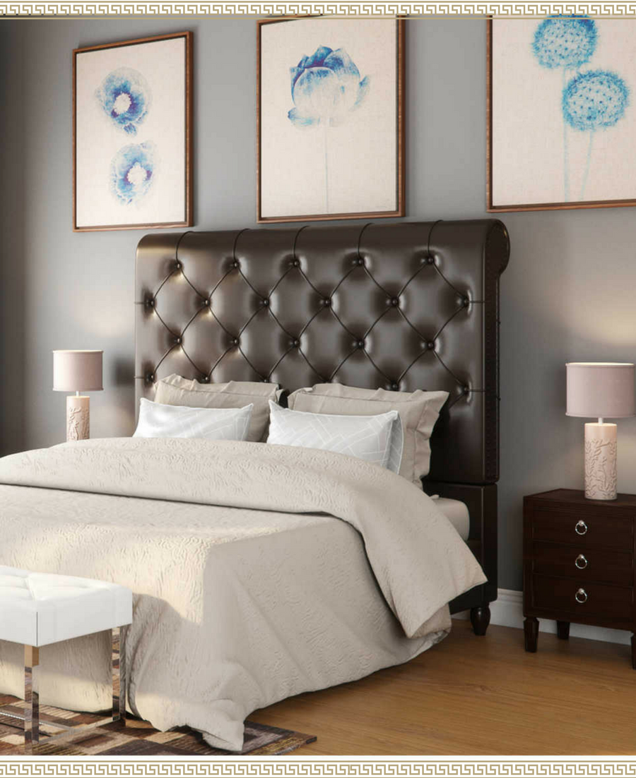 Master bedroom goals  I love this leather tufted headboard Master bedroom goals  The