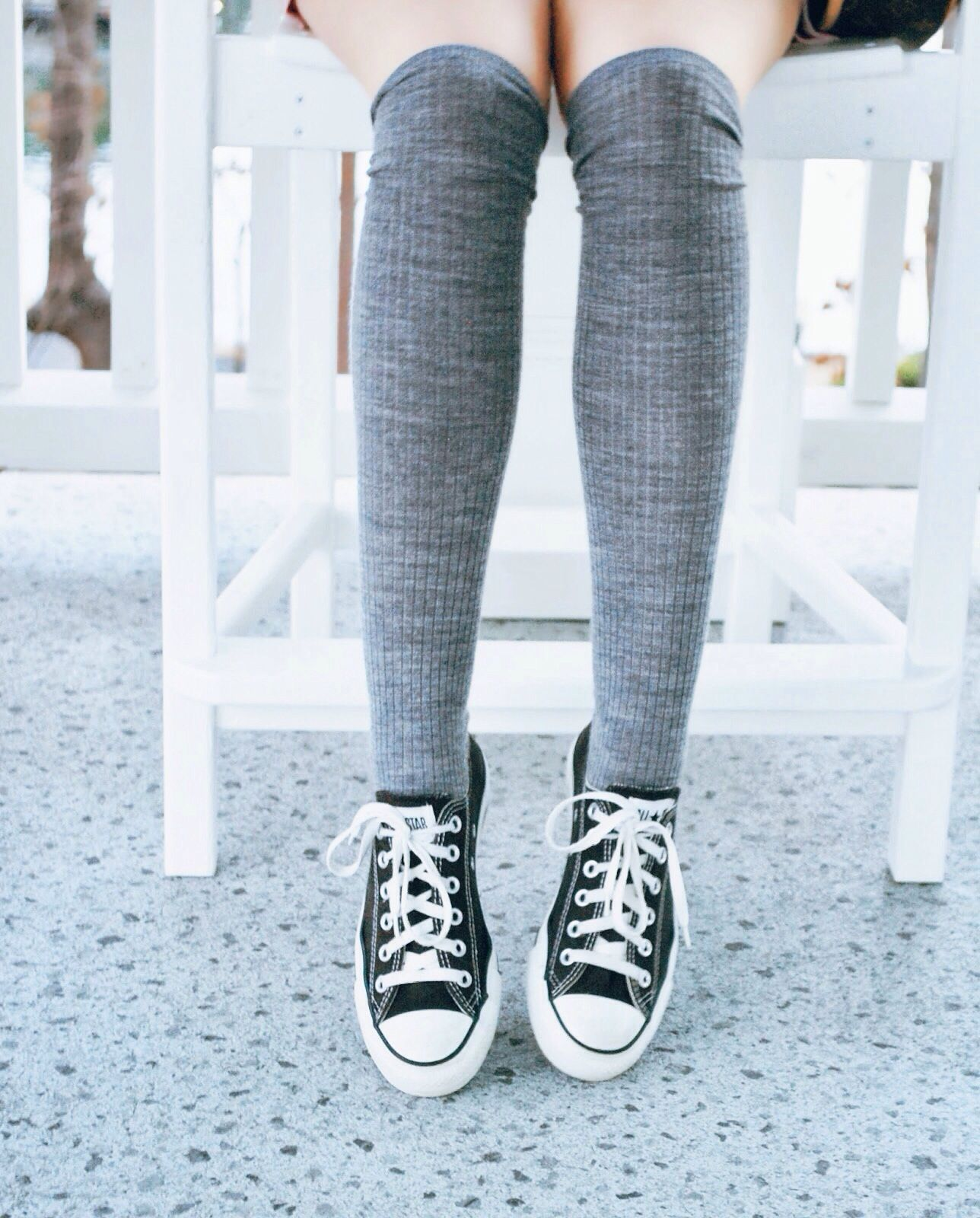 a076cfcf0cde59 Converse and knee highs anyone