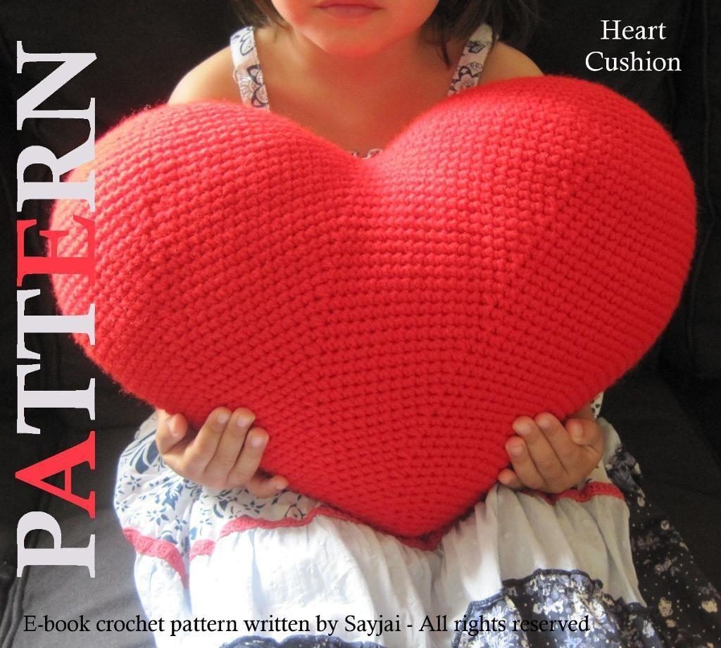 Heart Cushion Pdf Crochet Pattern On Craftsy Knitcrochet