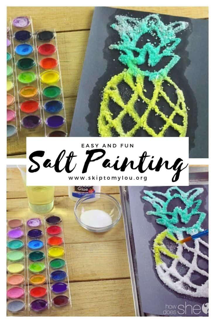 Salt Painting For Kids