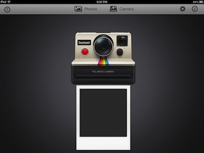 Turn the iPad into a Polaroid camera and label the pictures, see pictures develop. Definitely fun. May even help practice waiting.