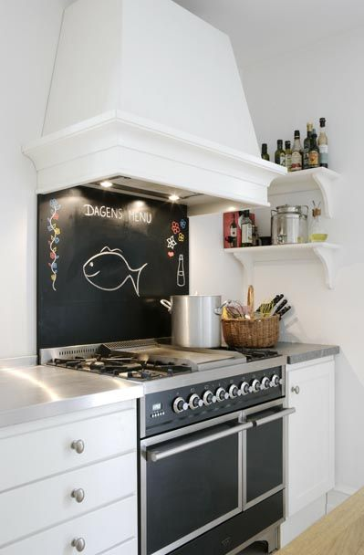 Chalkboard Paint Backsplash chalkboard backsplash over stove only? http://www.kitchenclarity
