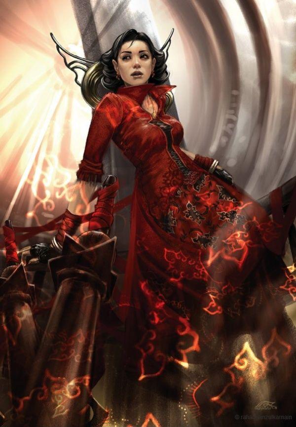 Red Empress By Rafi Adrian Zulkarnain Fantasy Girl Asian Artwork Female