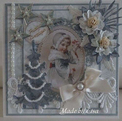 Voorbeeldkaart - Kerstmeisje, - Categorie: Scrapkaarten - Hobbyjournaal uw hobby website