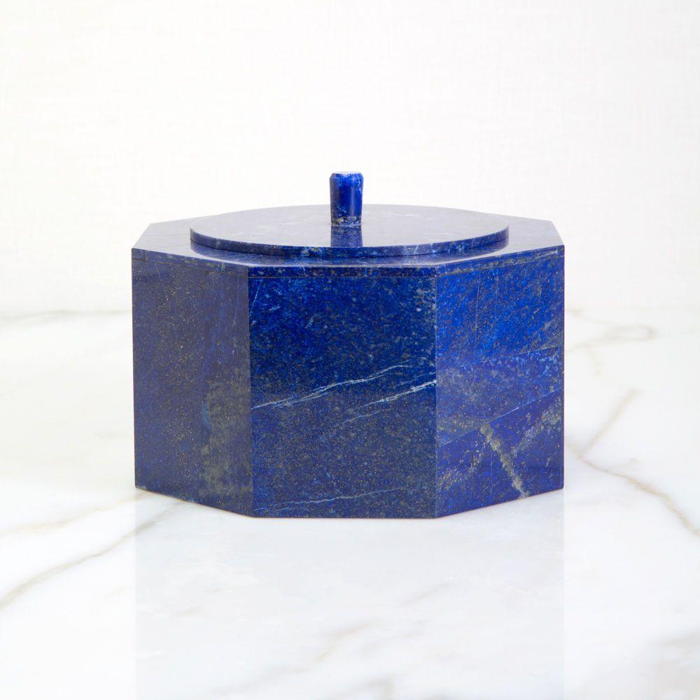 Marble lined jewelry box Lapis Lazuli Box
