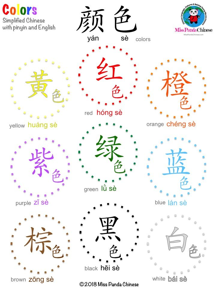 Chinese Colors Made Easy Learn colors in Mandarin Chinese