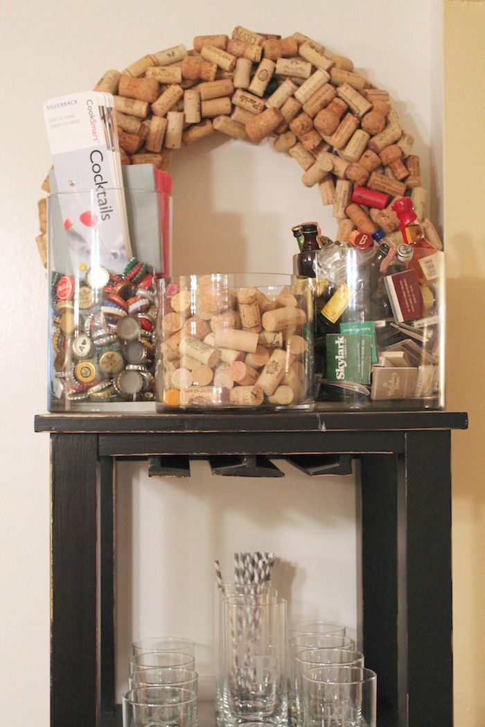 CBL Apartment Tour Wine cork wreath, Mini bottles