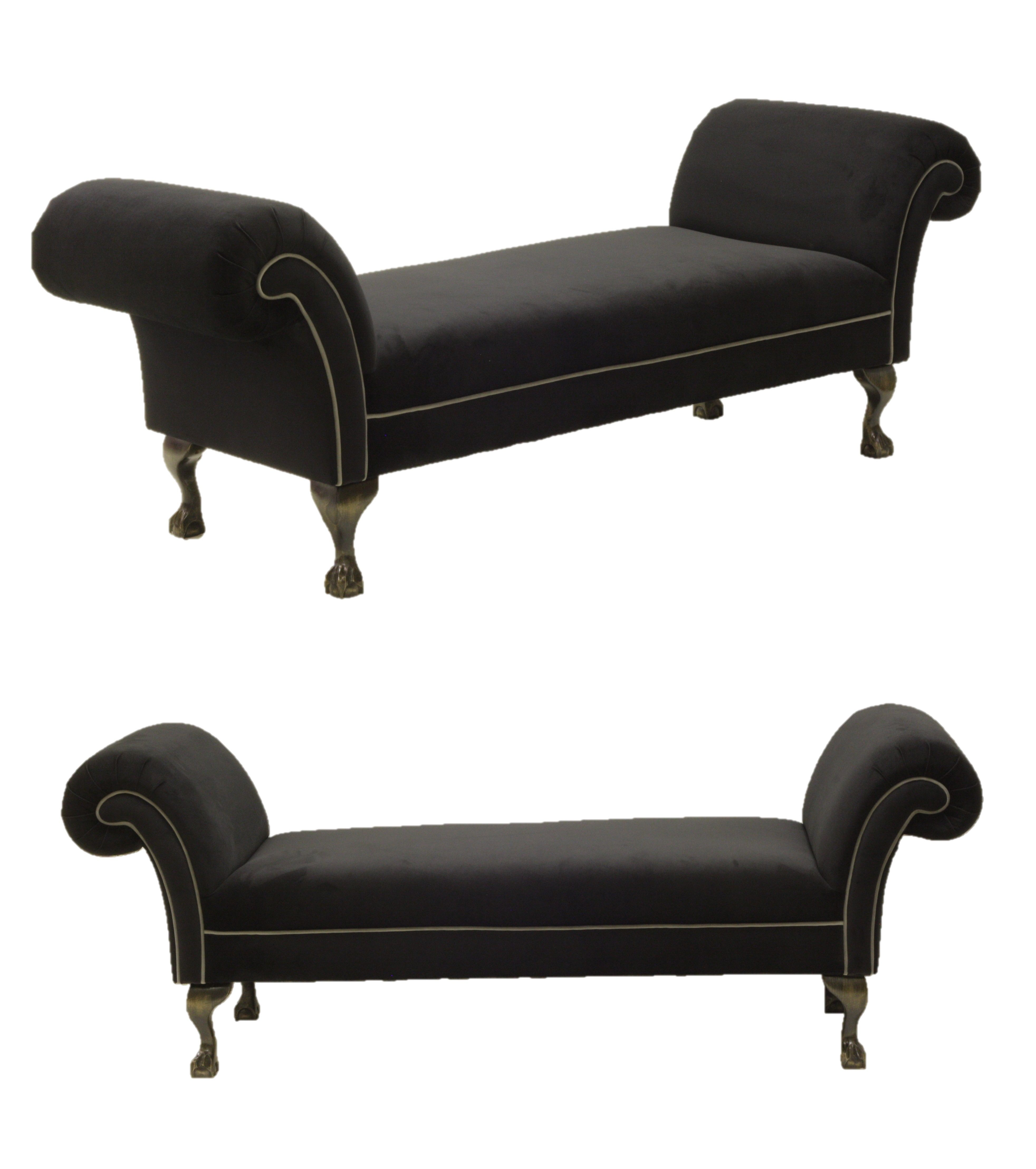 Backless Double Ended Chaise With Contrast Piping From Www
