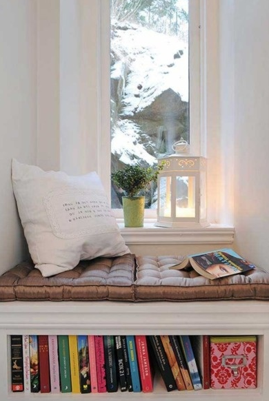Beautiful Reading Bench Under Window
