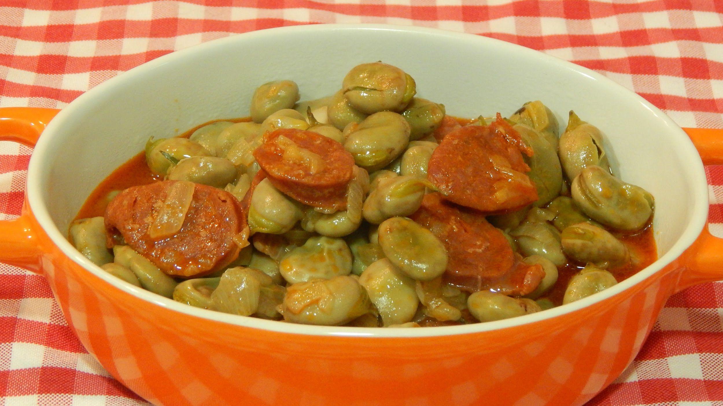 Habas Tiernas Con Chorizo Receta Fácil Food Habas
