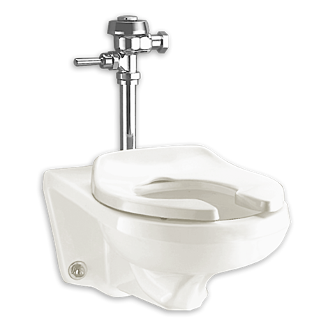 Afwall 1 28 1 6 Gpf Ada Retrofit Everclean Universal Flushometer Toilet Shown In 020 Toilet Bowl One Piece Toilets American Standard