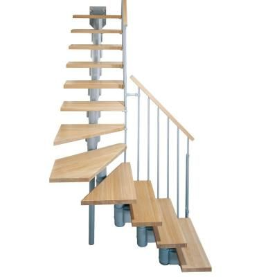 Best Arke Kompact 29 In Grey Modular Staircase L Kit 640 x 480