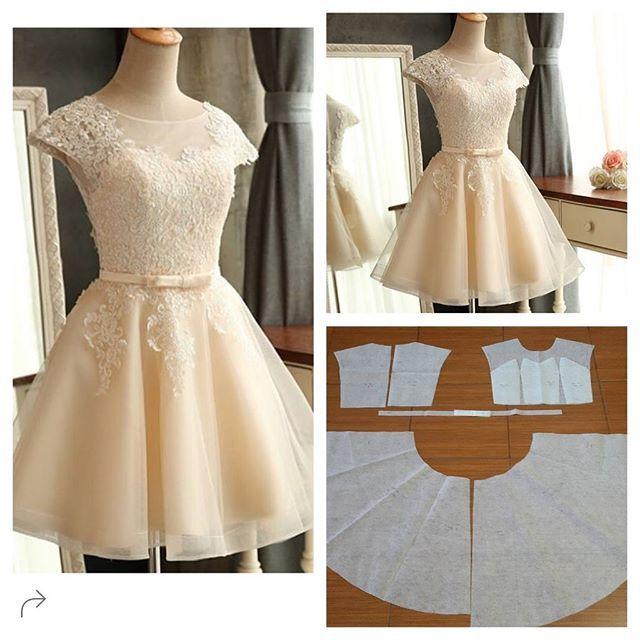 short formal a line dress patterns