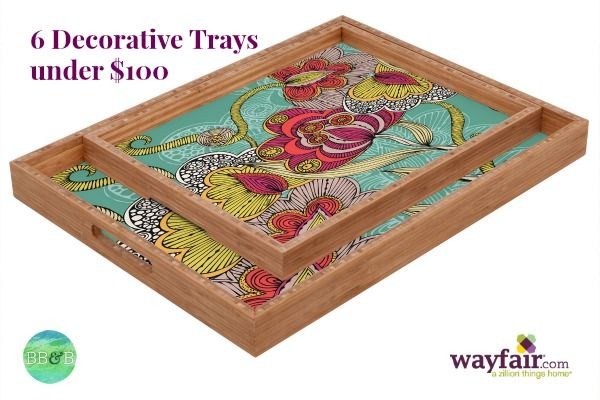 Decorative Trays 6 Chic Decorative Trays Under $100  Bright Bold And Beautiful