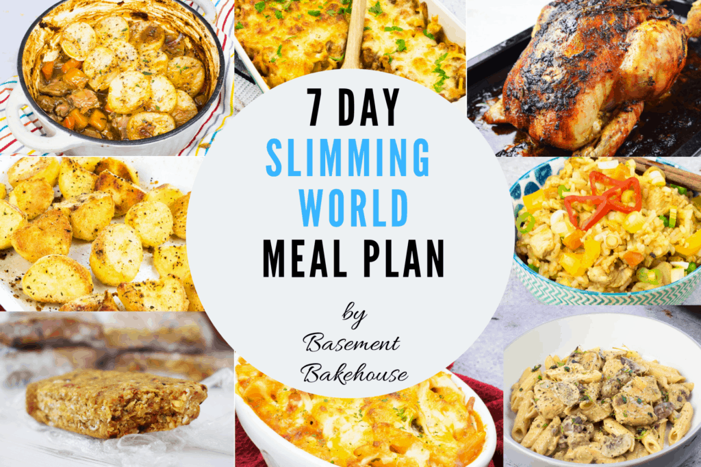 Slimming World Meal Plan (21st January 2019)
