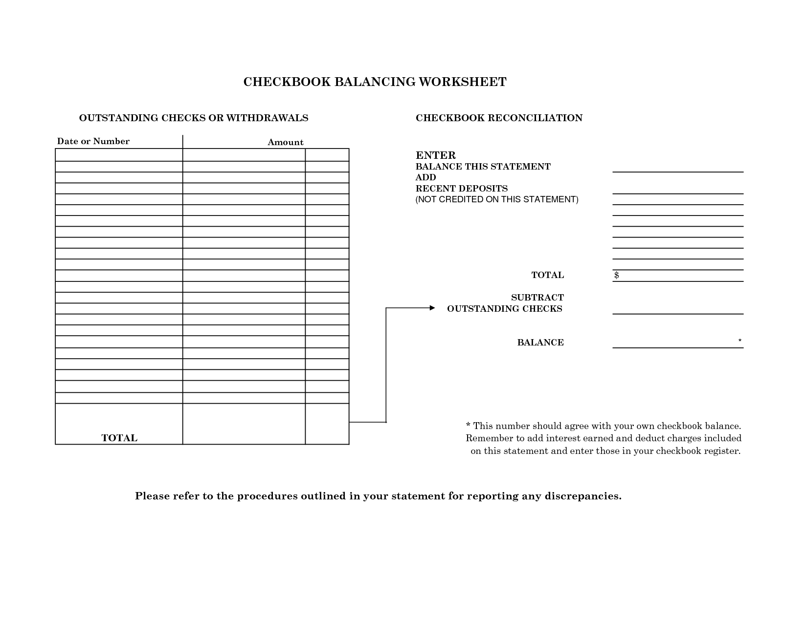 Checkbook Reconciliation Practice Worksheets Best Photos