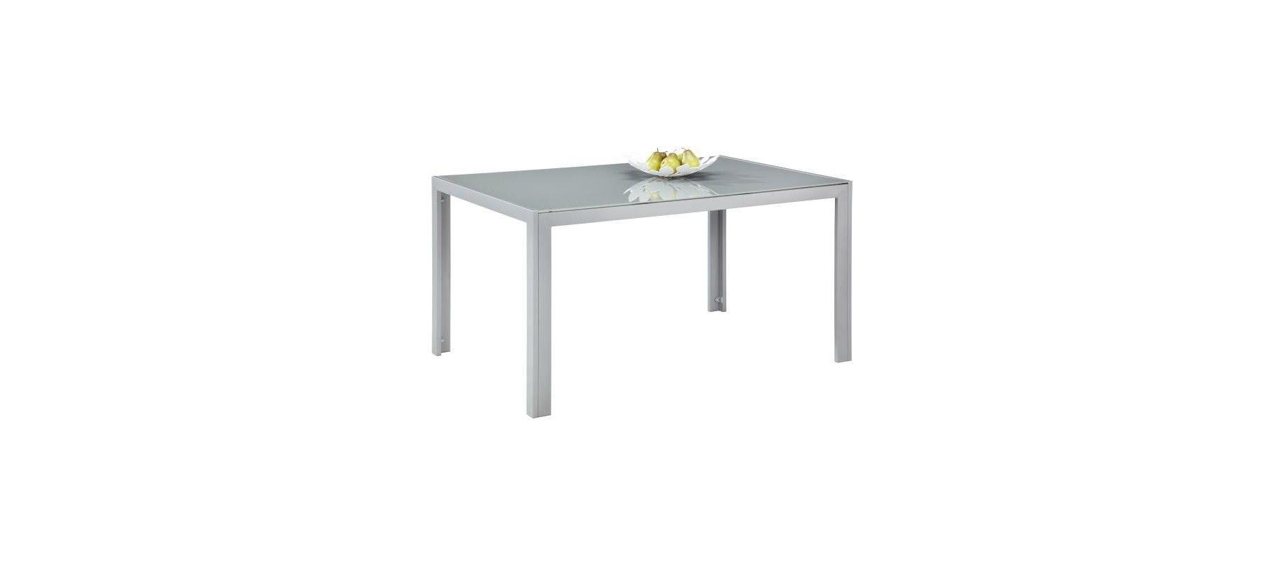 Gartentisch Rechteckig In Aluminium Grau Silberfarben Online