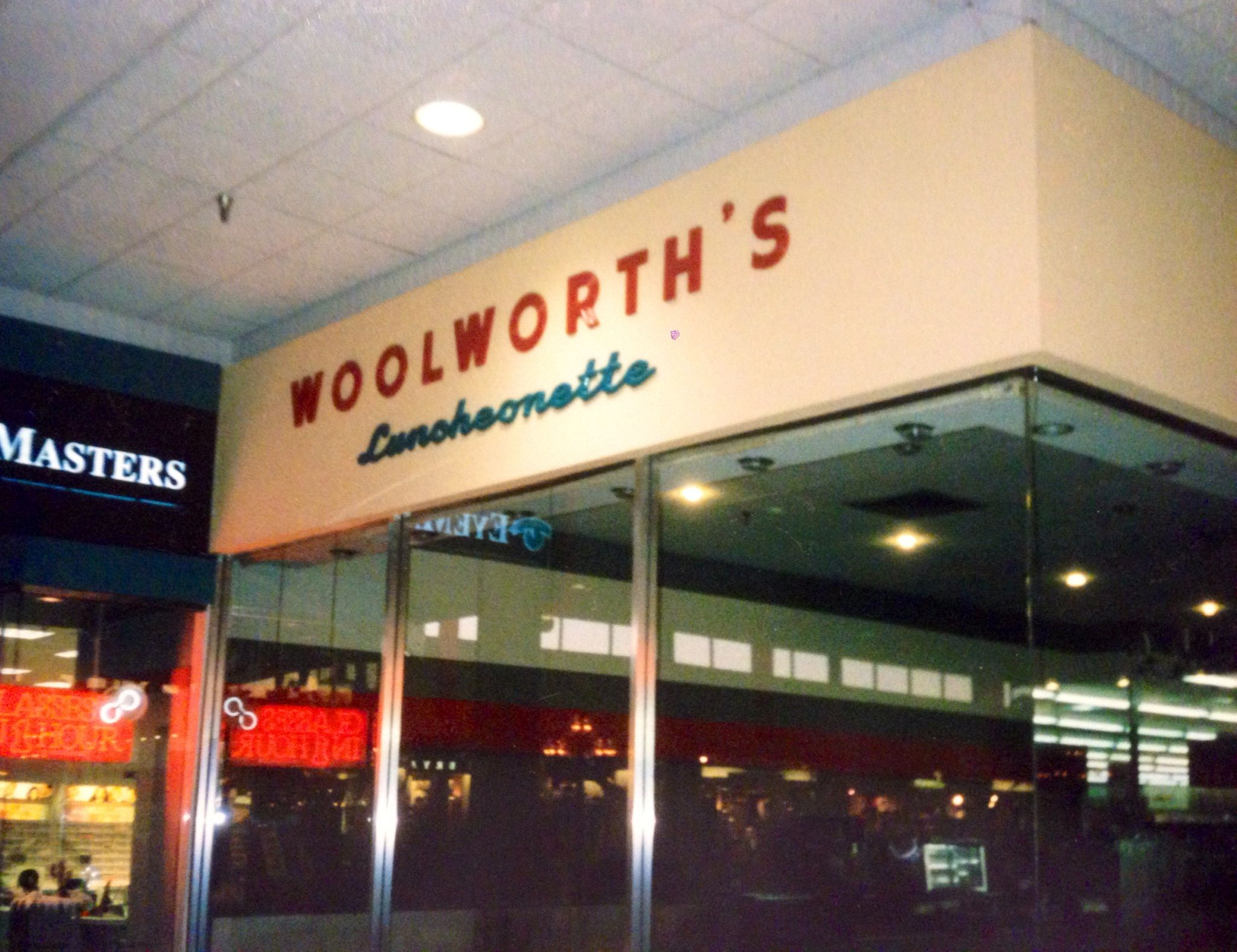 Woolworth S Luncheonette Sign On Storefront Inside The Mall Corridor At East Hills Mall In St Joseph Mo When Stand Vintage Mall Home Goods Decor St Louis Mo