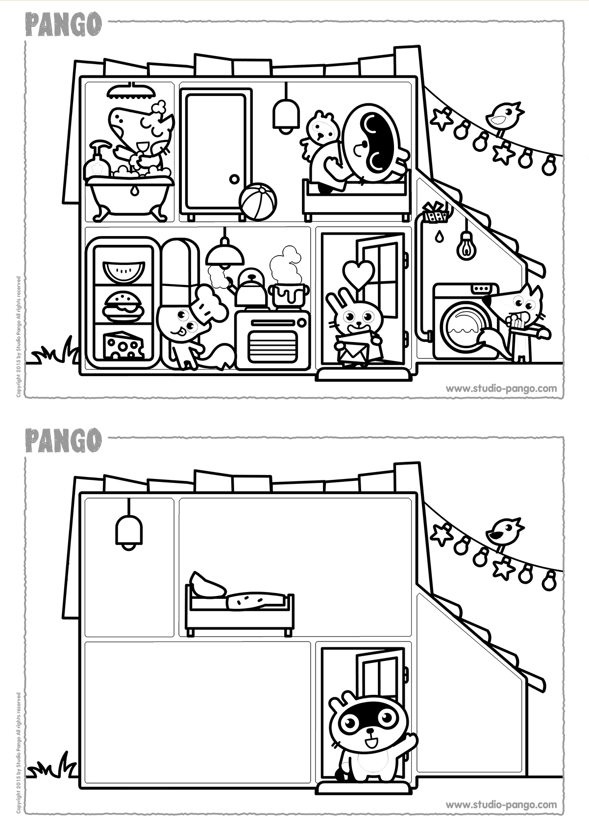 Pango S House Coloring Drawing