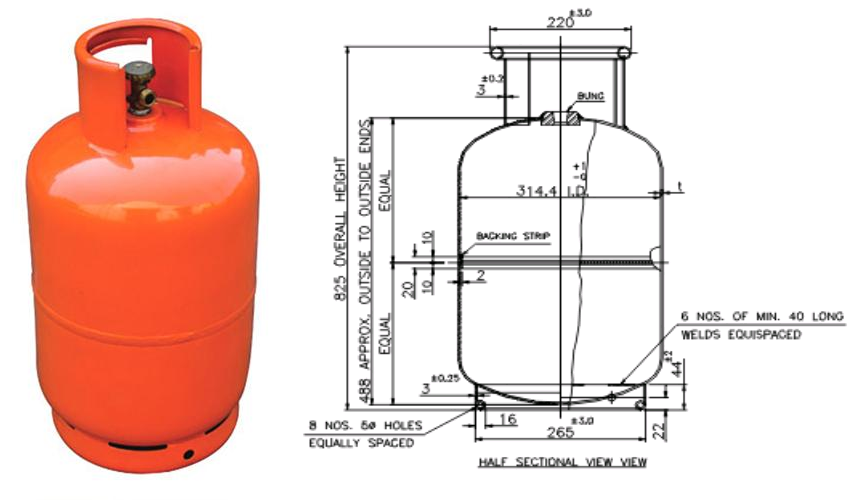 Domestic Gas Cylinder Cae Analysis Report Cylinder Gas Domestic