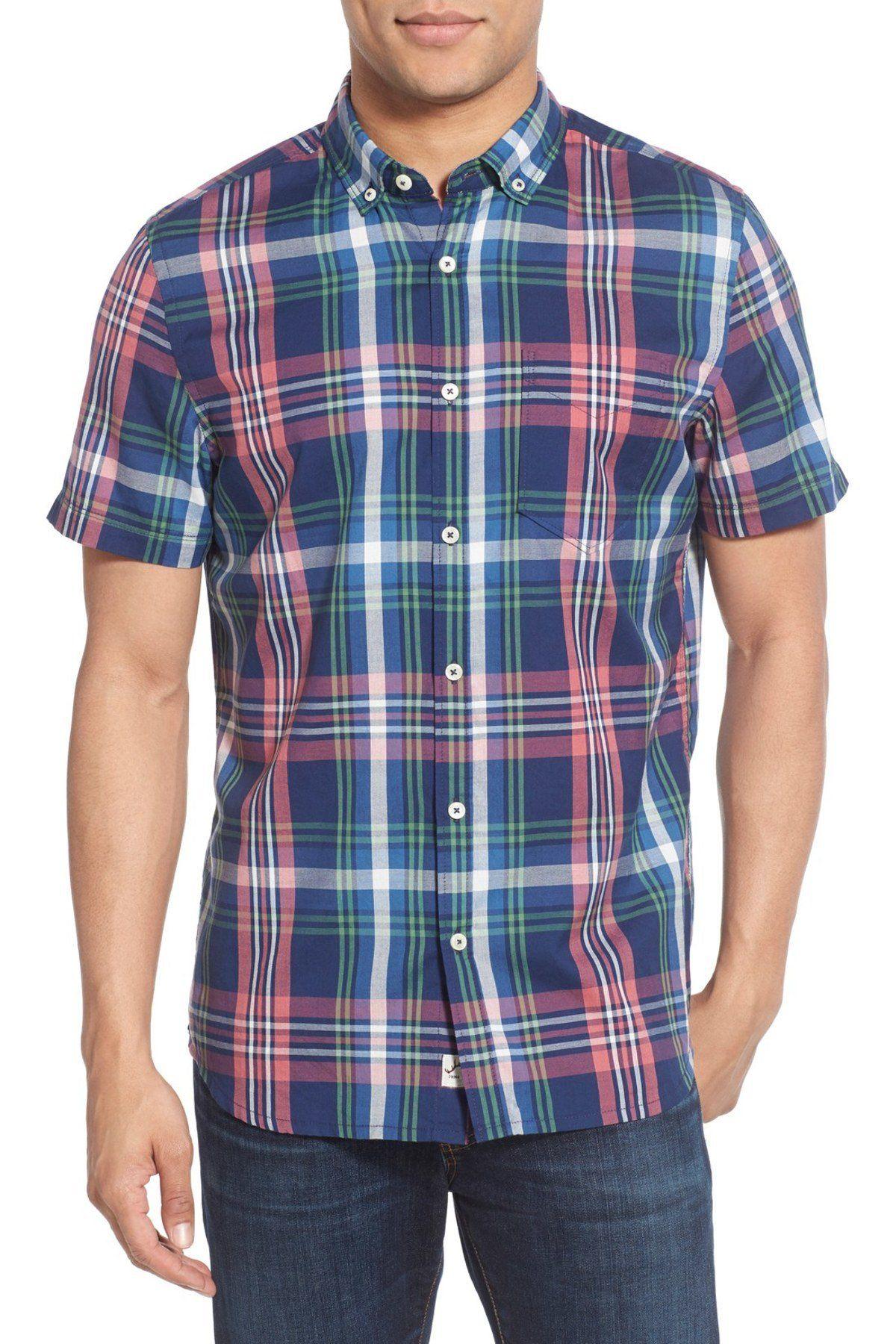 Flannel shirt apron  Brent Madras Plaid Sport Short Sleeve Regular Fit Shirt  Products