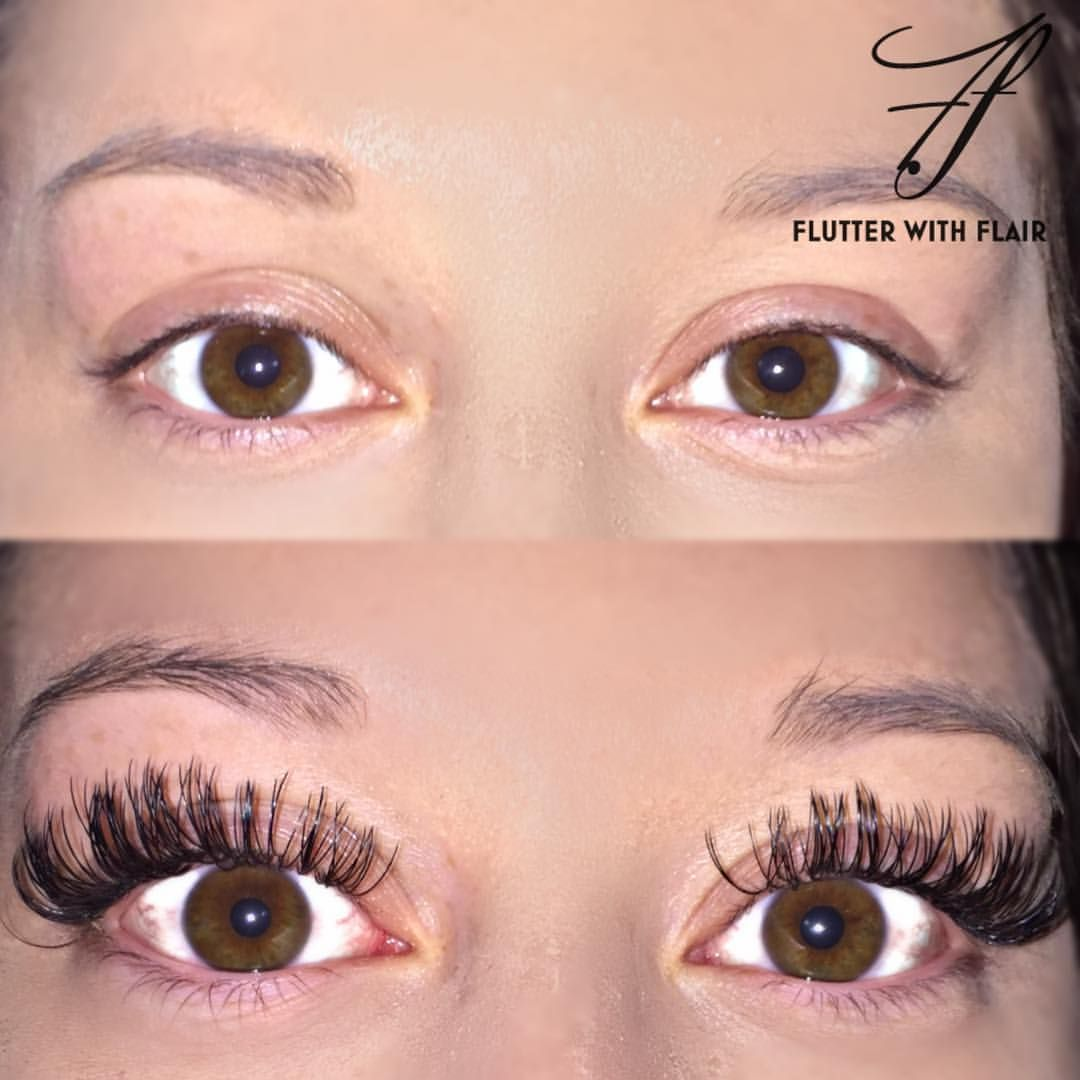ebb59d168c1 Before and After lash extensions See this Instagram photo by  @flutterwithflair
