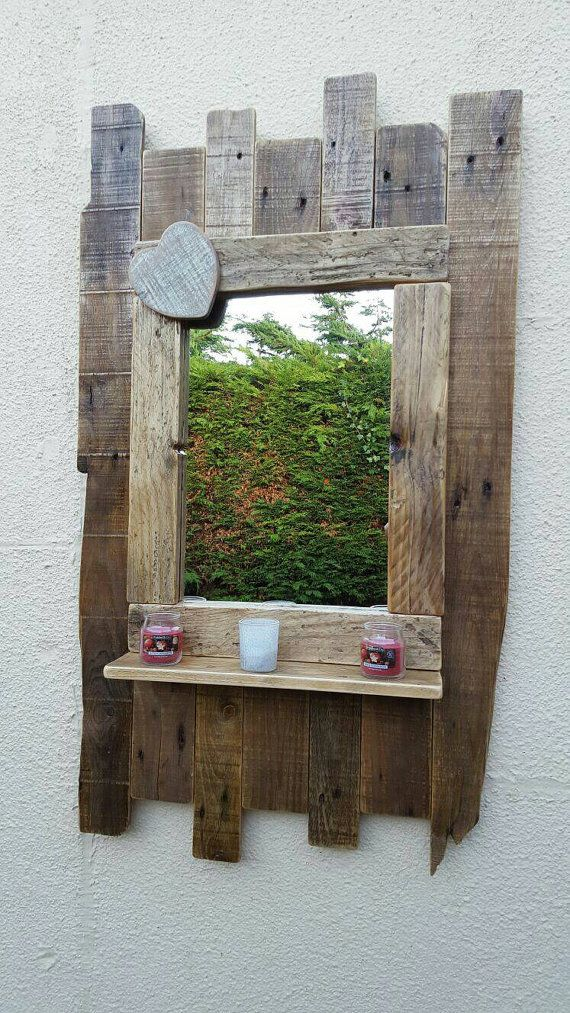 Rustic Foyer Mirror : Entryway mirror large handmade rustic reclaimed wood