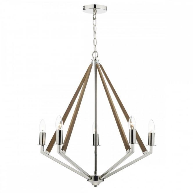 HOTEL decorative modern ceiling light in polished nickel