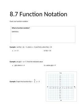 Function Notation Notes Notations Maths Algebra Algebra