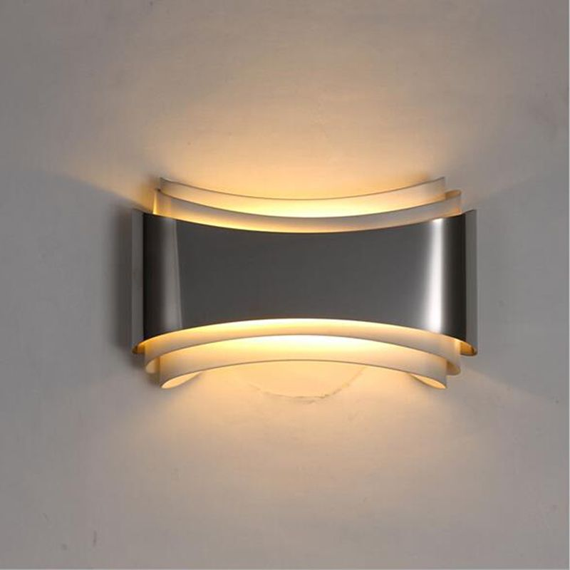 Decorative Wall Lamps modern led wall lights for bedroom study room stainless steel+