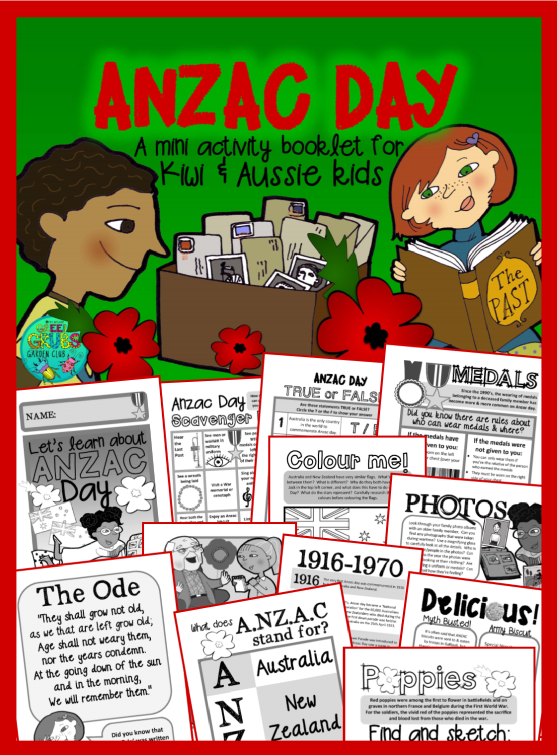 Anzac Day An Activity Booklet For Kiwi Amp Aussie Kids