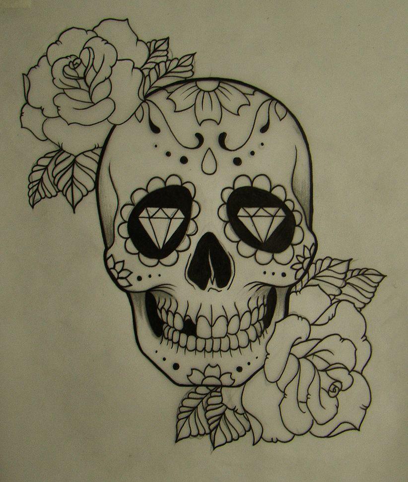 Caveira Mexicana Tumblr Caveira Mexicana Desenho Tatuagem