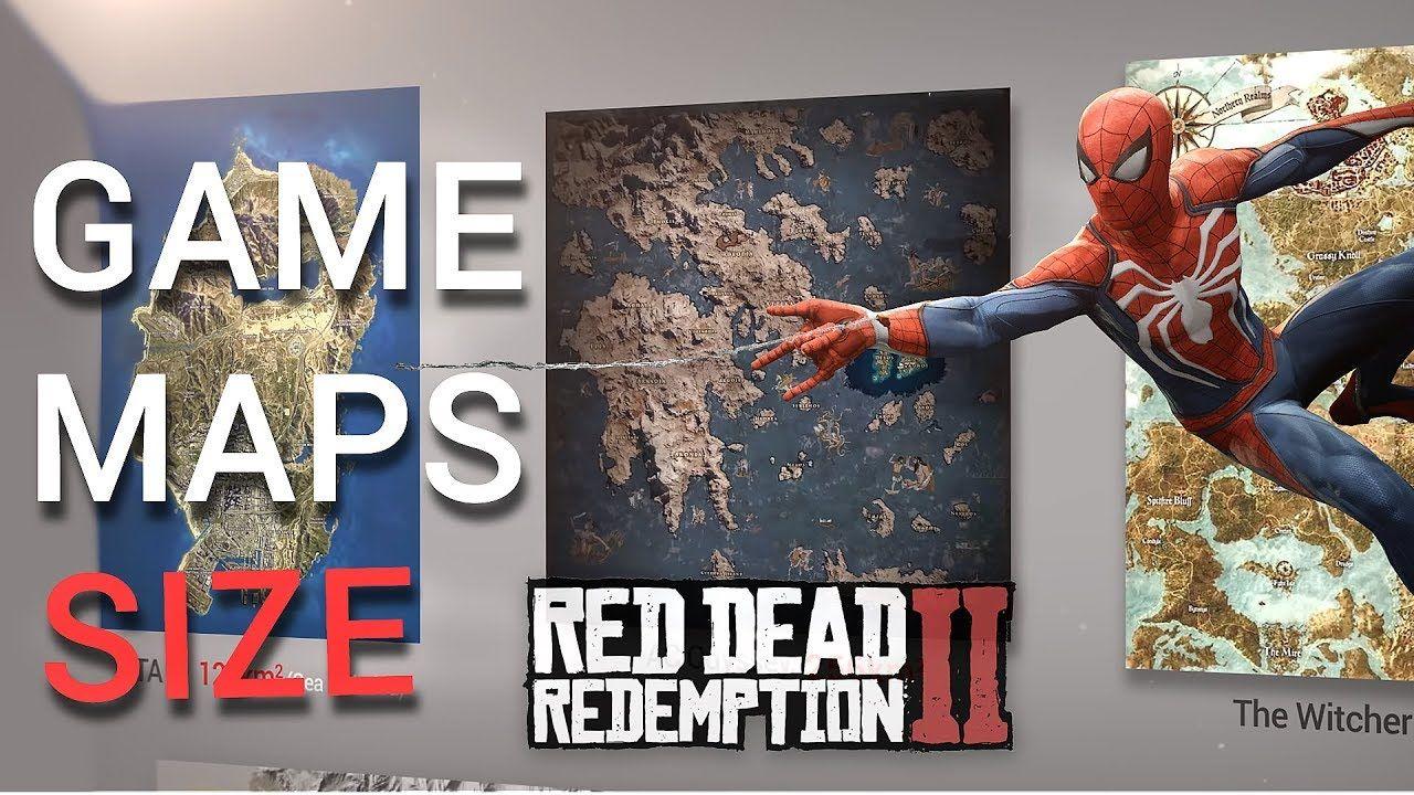 Video Game Maps Size Comparison Incl Rdr2 Spiderman Just Cause 4