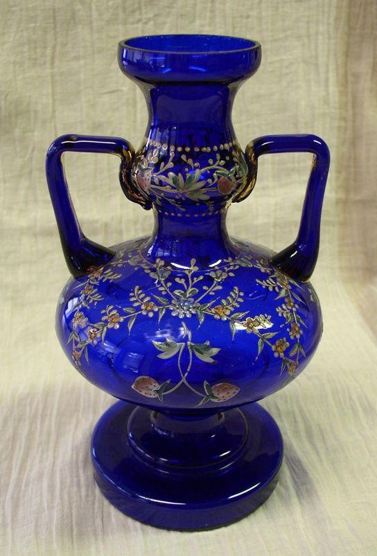 Antique Cobalt Blue Vases Lovely Antique Victorian Cobalt Blue