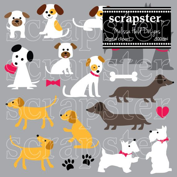 Dogs Digital Clipart by ScrapsterbyMHdesigns on Etsy | Molly\'s ...