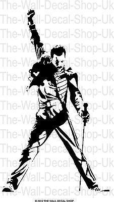 Freddie Mercury Large Wall Art Sticker Decal Sticker Wall Art Freddie Mercury Silhouette Stencil