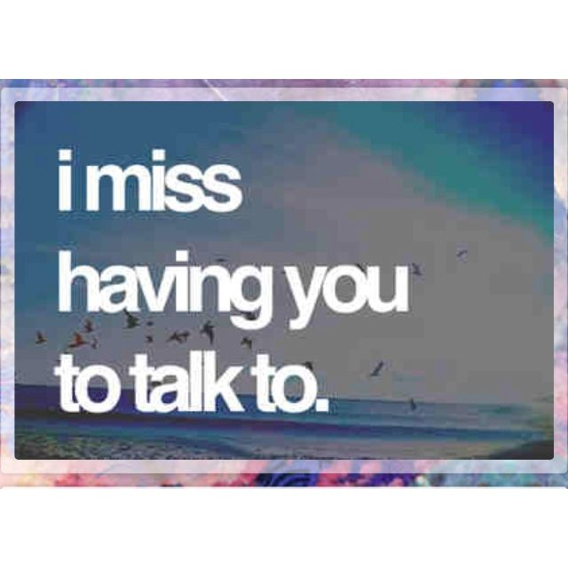 Missing Talking To You