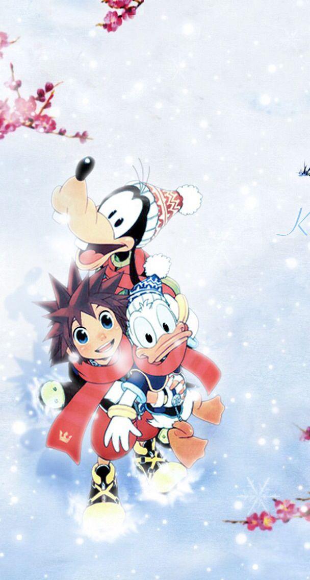 Kingdom Hearts Winter | iOS 8 wallpapers | Pinterest