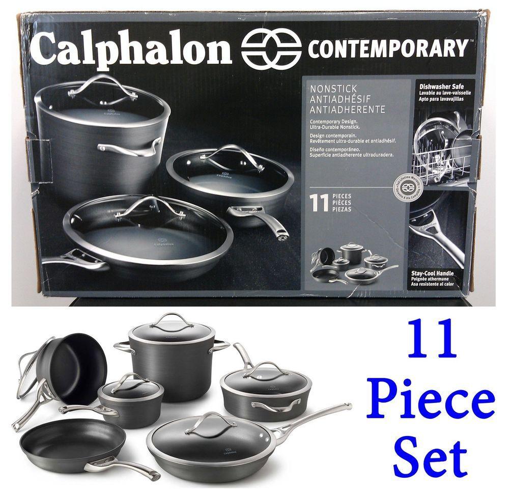 Pin On Stuff To Buy Calphalon contemporary nonstick 11 piece cookware set