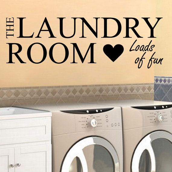 Laundry Decal Room Loads Of Fun W Heart Wall Vinyl Sticker Family Laundry Room Home Washer Dryer Clothes Funny Quotes Housewares Wall Art With Images Laundry Decals Vinyl Wall Decals