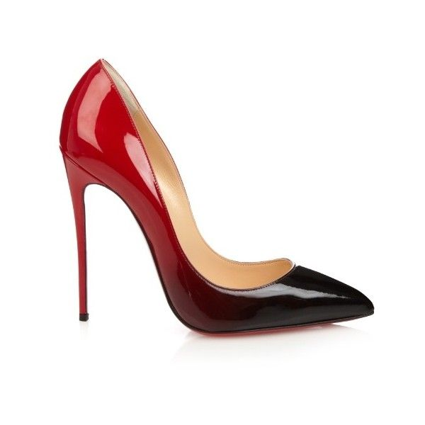 Christian Louboutin Pigalle Follies 120mm ombré pumps (£475) ❤ liked on  Polyvore featuring