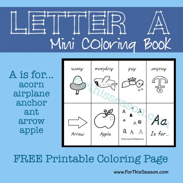 A Is For... {Alphabet Activities for All Ages | Pinterest | Coloring ...
