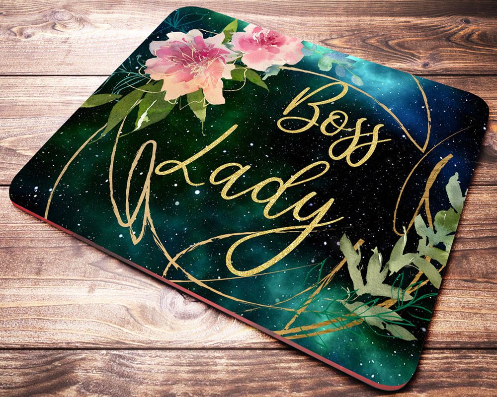 Boss lady floral mouse pad office gifts desk accessories