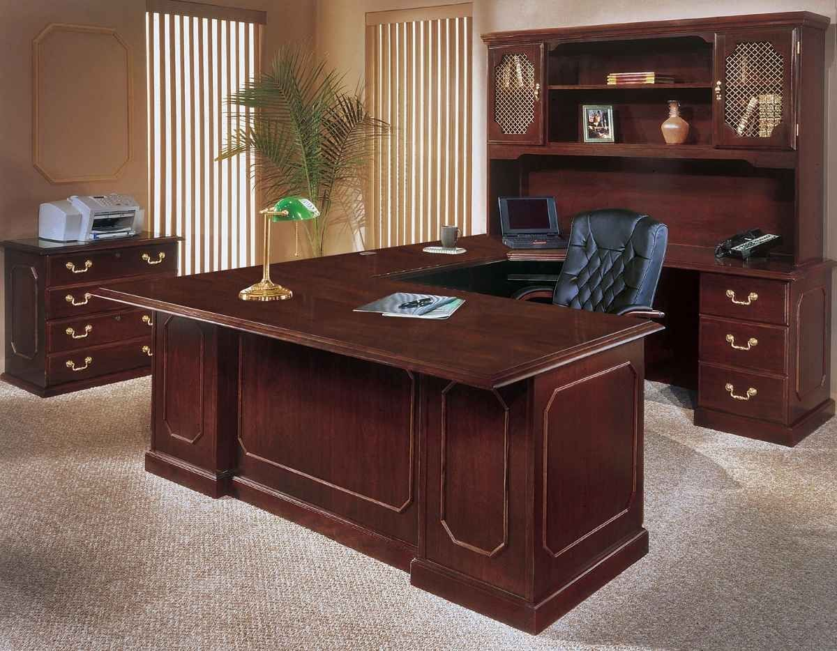 Mahogany Executive Office Desk Home Office Furniture Sets