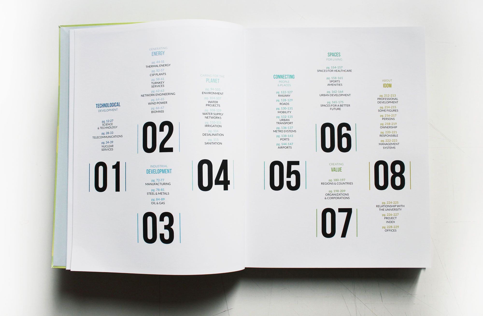 idom annual report 2014 designed by muak studio  muak