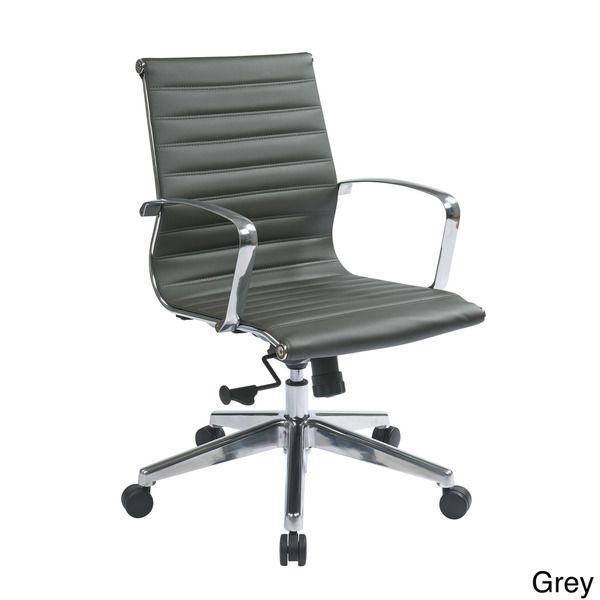 Office Star Products Mid Back Eco Leather Chair - Overstock™ Shopping - The Best Prices on Office Star Products Ergonomic Chairs