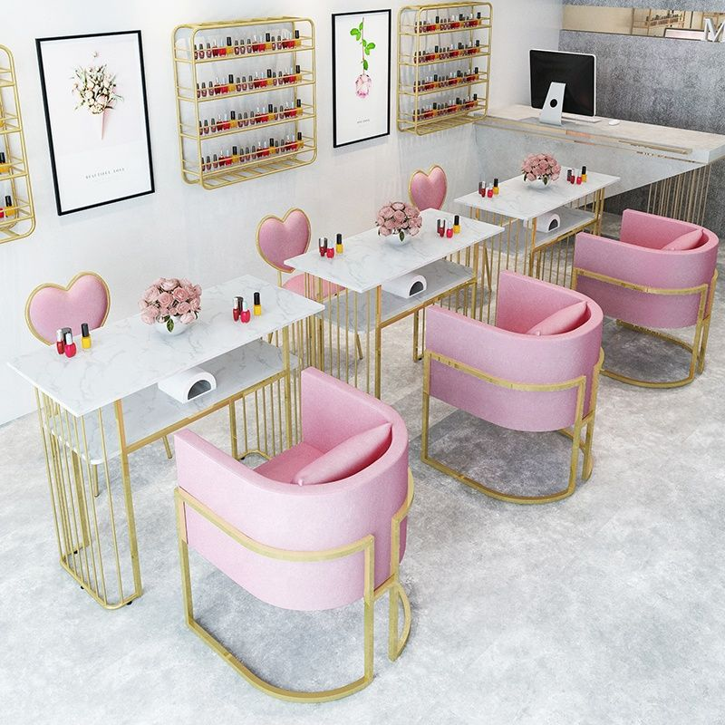 Source Cheap Price Modern Style Salon Furniture Metal Nail Manicure Salon Table On M Alibaba Com Salon Furniture Nail Salon Interior Design Nail Salon Interior