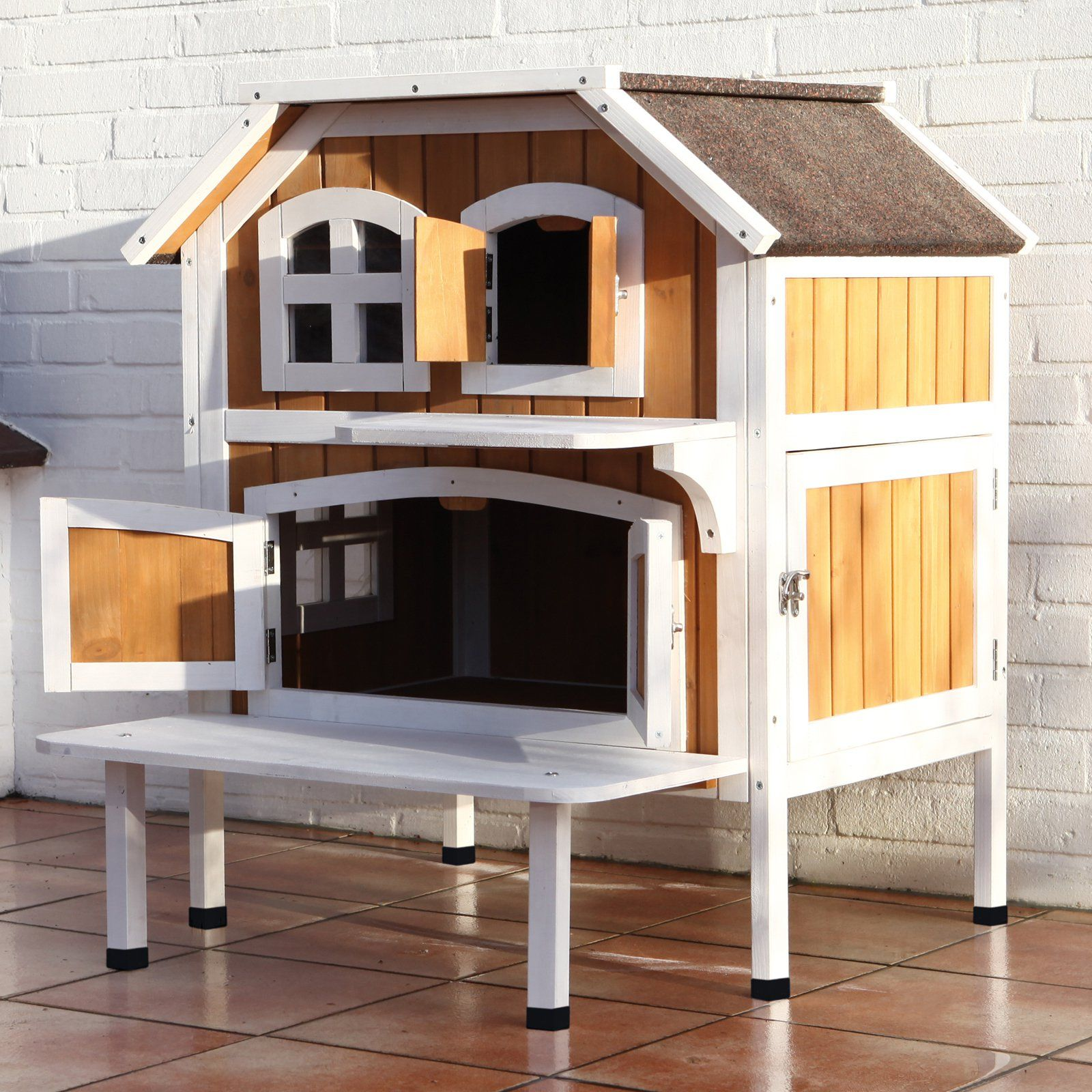 Trixie Pet Products 2 Story Cat Cottage Outdoor Cat House House Cat House