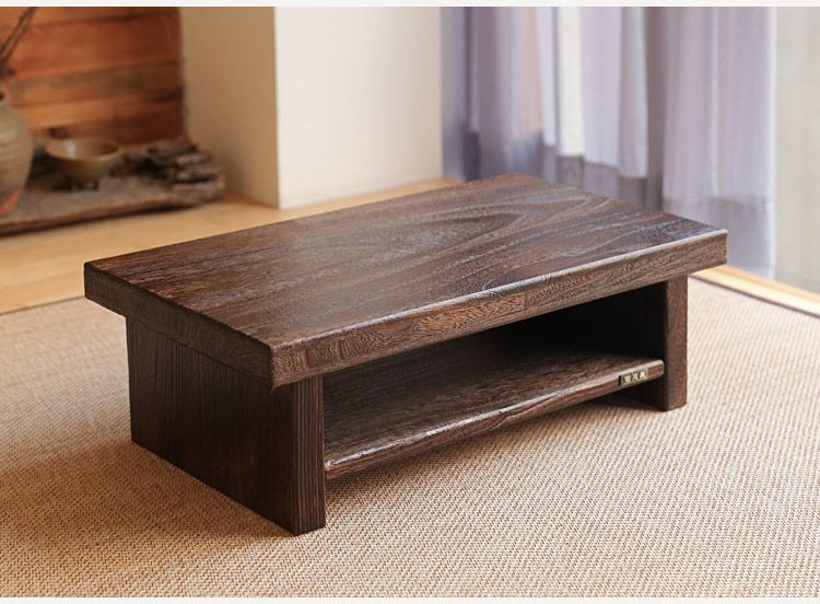 Asian antique furniture japanese floor tea table rectangle