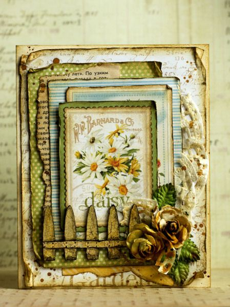 Amazing Secret Garden card by Nataliya Serova shared on our Ning site! #graphic45 #cards